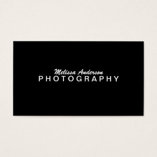 PROFESSIONAL BLACK | PHOTOGRAPHY BUSINESS CARD