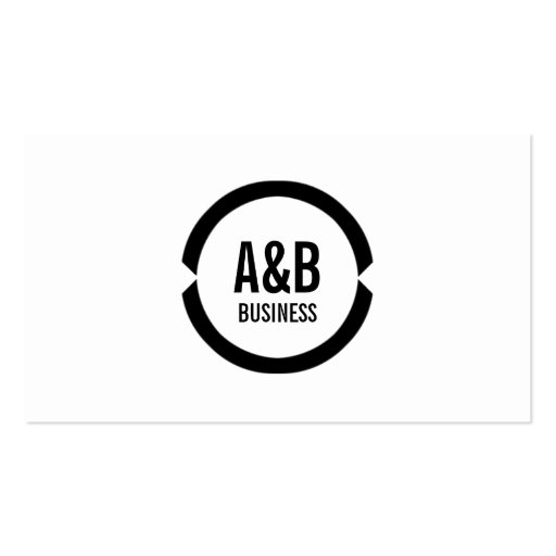 Professional Black Ring Golf Business Card