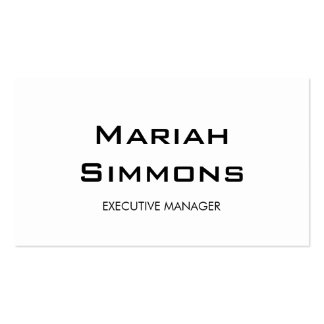 Professional Black White Contemporary Manager Pack Of Standard Business Cards