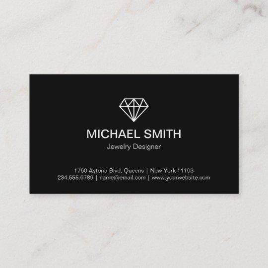Professional black white modern diamond logo business card zazzle professional black white modern diamond logo business card reheart Images
