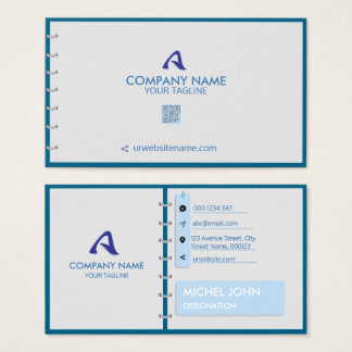 PROFESSIONAL BLUE -CORPORATE WITH A LOGO AND DIARY BUSINESS CARD