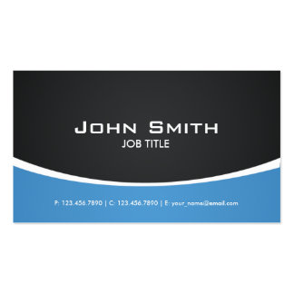 Professional Blue Modern Elegant Classy Pack Of Standard Business Cards