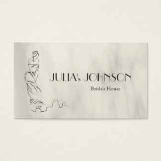 Professional Bride Stylist Wedding Dress Salon Business Card