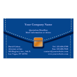 Professional Briefcase Business Card
