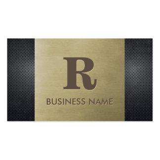 Professional Bronze & Metal Monogram Pack Of Standard Business Cards