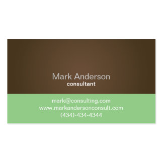 Professional Brown Green Two Tone Business Card