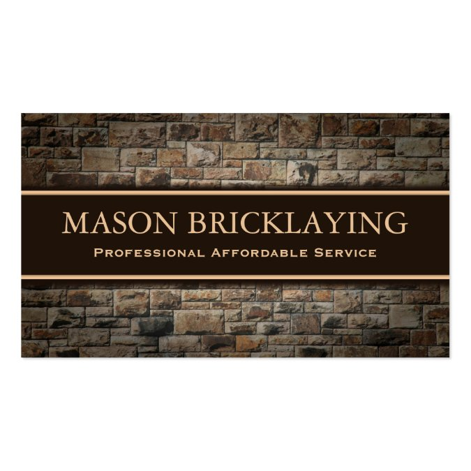 professional builder bricklaying business card home construction or builder business card design
