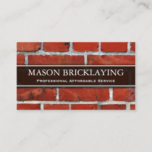 professional builder bricklaying business card - Business Card Builder