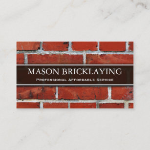Builder business cards business card printing zazzle uk professional builder bricklaying business card reheart Choice Image