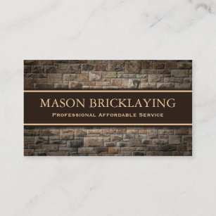 Professional business cards zazzle uk professional builder bricklaying business card reheart Image collections