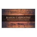 Professional Builder / Carpenter Business Card