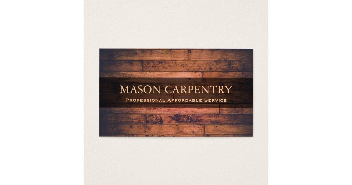 Professional Builder / Carpenter Business Card | Zazzle.co.uk
