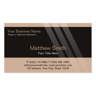Professional Business, Brown, Black, Stripes Pack Of Standard Business Cards