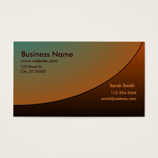 Professional Business Card Copper Shades