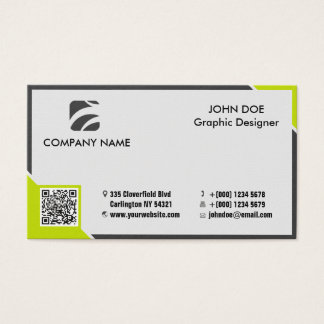 Professional business card yellow black edged
