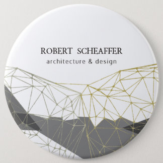 Professional Business Polygonal Chic Geometric 6 Cm Round Badge