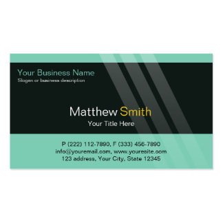 Professional Business, Torques, Black, Stripes Pack Of Standard Business Cards