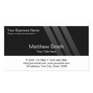 Professional Business, White, Black, Stripes Pack Of Standard Business Cards