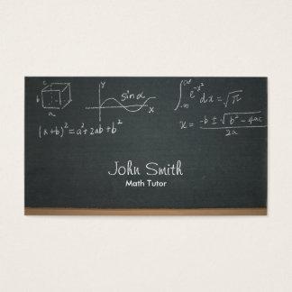 Professional Chalkboard Math Equations Math Tutor Business Card