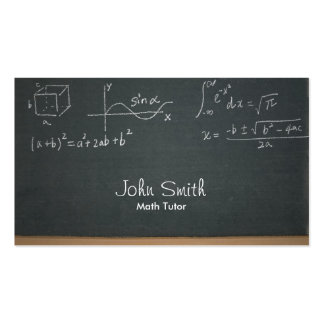 Professional Chalkboard Math Equations Math Tutor Pack Of Standard Business Cards