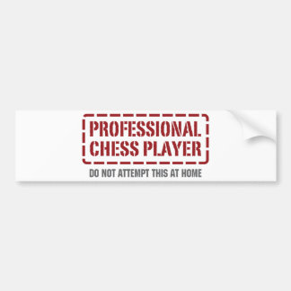 Professional Chess Player Bumper Sticker