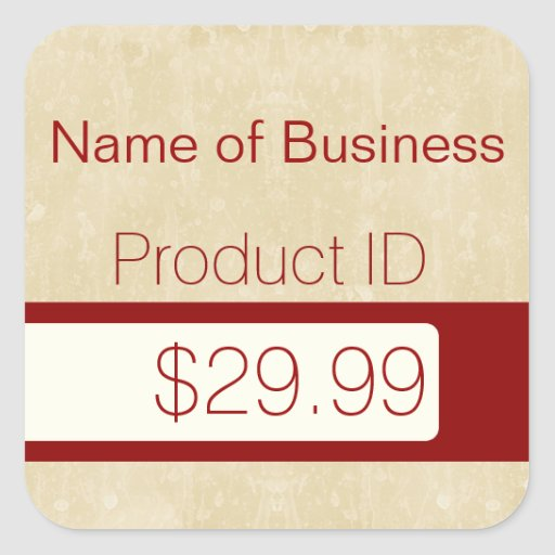 Professional Chic Beige Modern Custom Price Tags Stickers