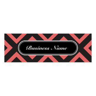 Professional Chic Cayenne Square Pattern Pack Of Skinny Business Cards