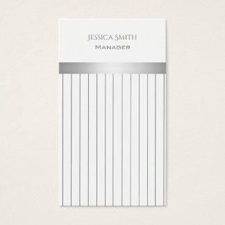 Professional Chic elegant discrete stripes Business Card