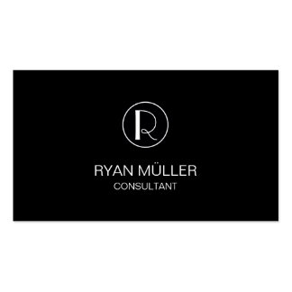 Professional Chic Elegant Plain and Monogram Pack Of Standard Business Cards