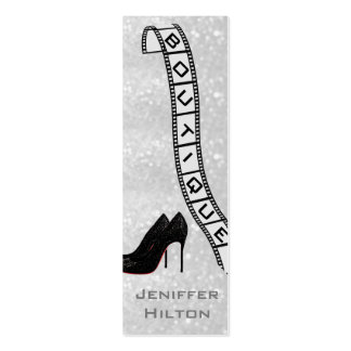 Professional chic glitter filmstrip boutique pack of skinny business cards