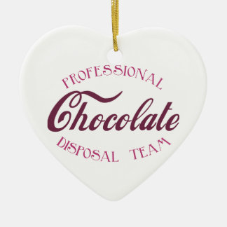 Professional Chocolate Disposal Team Ceramic Heart Decoration