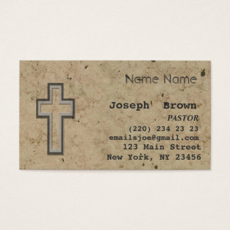 Professional Christian Cross Jesus Religion Business Card