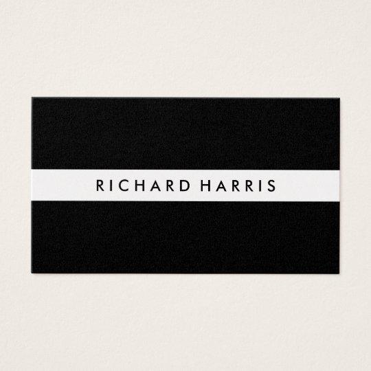 Professional Classic Black ~ Gold Stripe Business Card