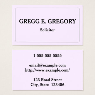Professional & Clean Solicitor Business Card