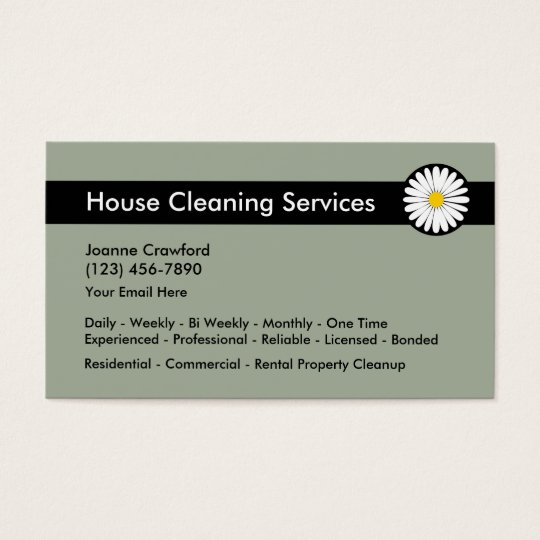 Professional Cleaning Services Business Card