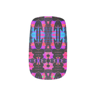 Professional colourful  tribal nail art set