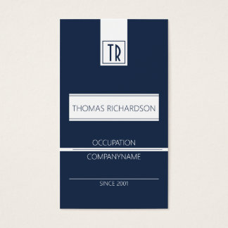 Professional company business card Dark blue