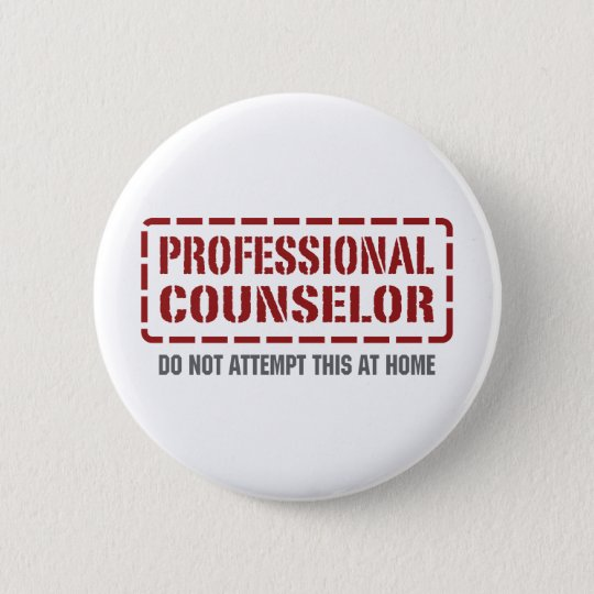Professional Counsellor 6 Cm Round Badge