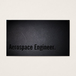 Professional Dark Aerospace Engineer Business Card
