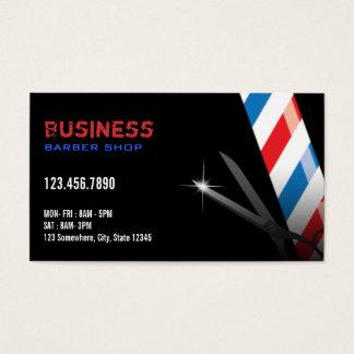 Professional Dark Barber Business Cards
