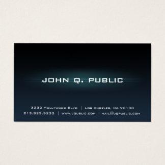 Professional Dark Blue Gradient Business Card