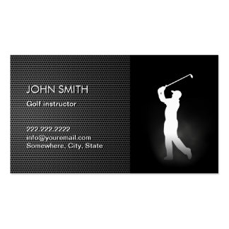 Professional Dark Metal Golf Business Cards