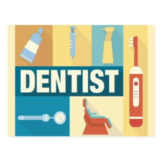 Professional Dentist Iconic Designed Postcard
