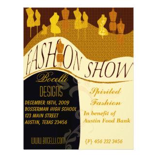 Professional  Designer Fashion Show Invitation 21.5 Cm X 28 Cm Flyer