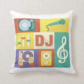 Professional Disc Jockey Iconic Designed Throw Pillow