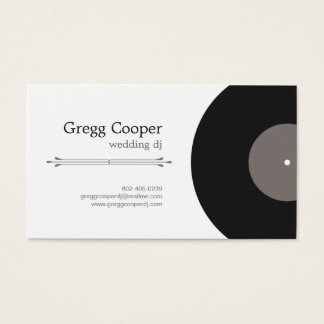 Professional DJ Business Card