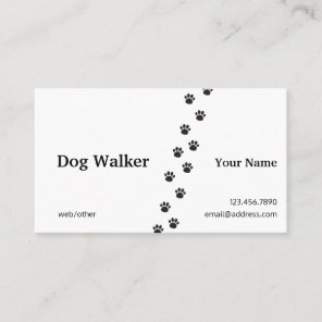 Professional Dog Walker Business Card