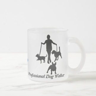 Professional Dog Walker Frosted Glass Coffee Mug