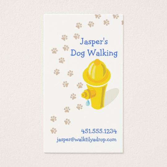 Professional Dog Walker_hydrant & paws Business Card