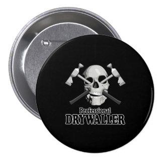 Professional Drywaller 7.5 Cm Round Badge